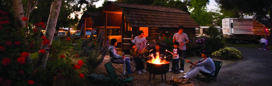 Cabin Camping Photo