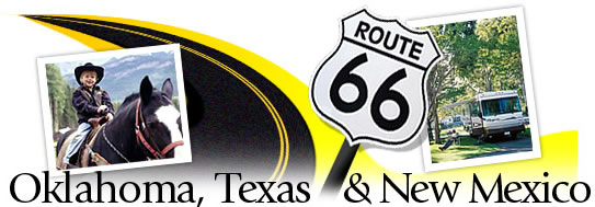 Follow Route 66 Through Oklahoma Graphic