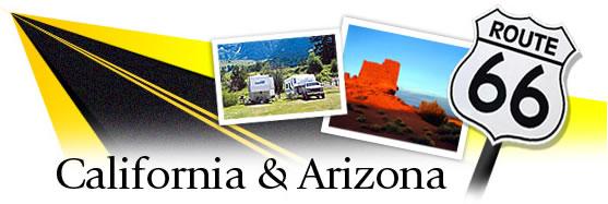 Follow Route 66 through California and Arizona Graphic