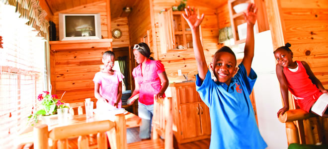 Photo of Family in a Deluxe Cabin